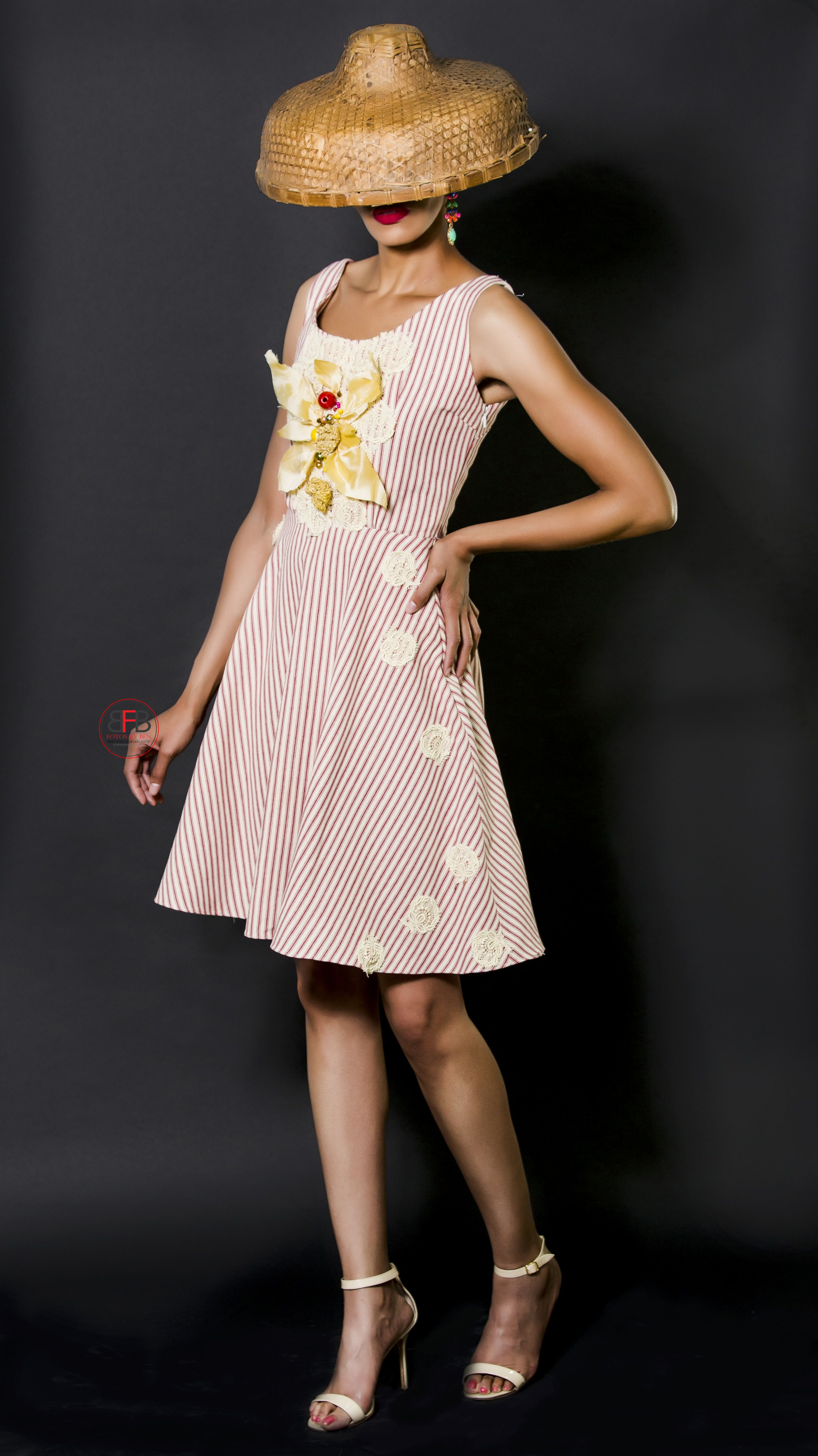Ava Drake - Carla-2464-2 Candy striped cotton summer dress 2