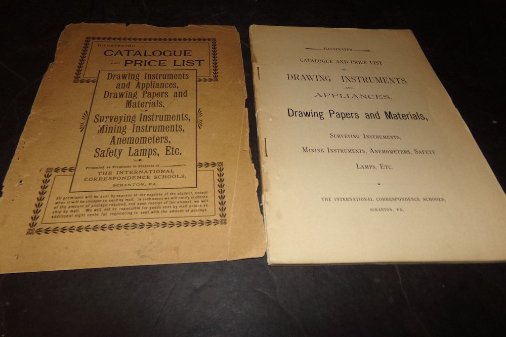 Vintage Catalog & Price List Drawing & Mining Instruments