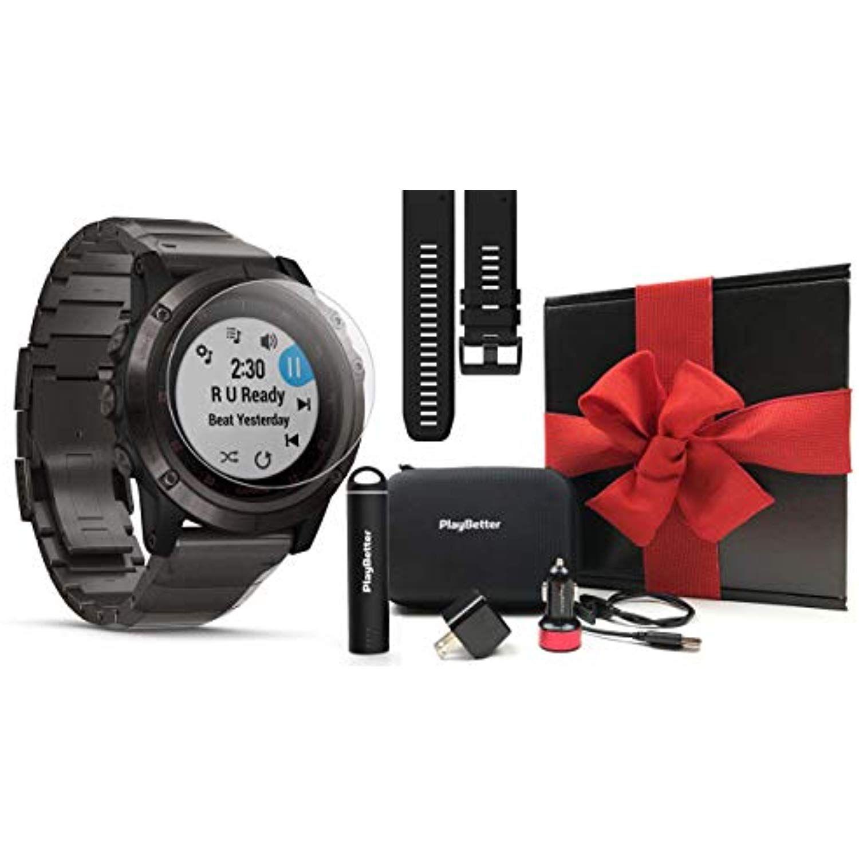 Garmin Fenix 5x Plus Sapphire Gift Box Bundle With Screen