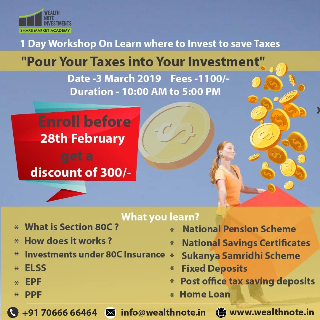 1 Day Workshop On Learn Where To Invest To Save Taxes