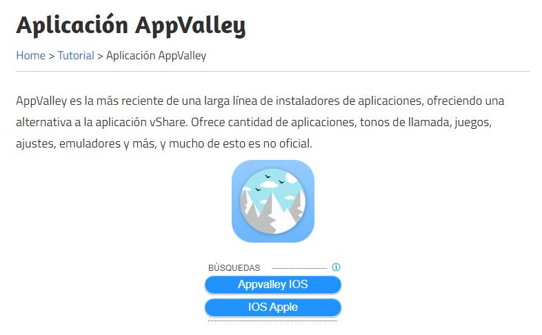 Mercado de aplicaciones AppValley ( Descarga ) App store