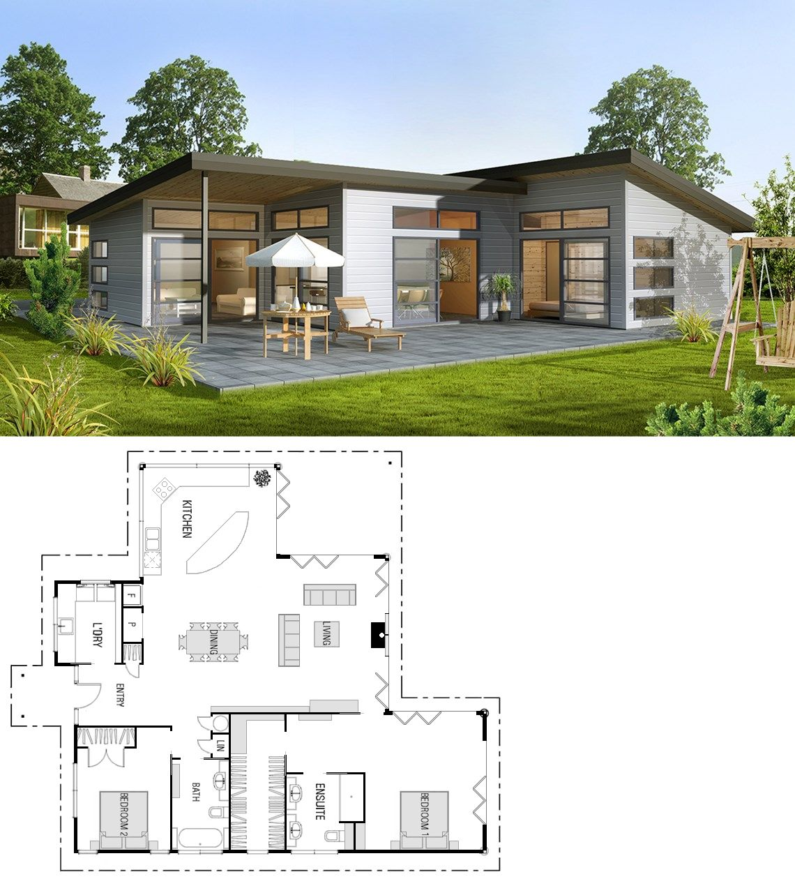 Love All Of The Outdoor Living Space Cottage Style House Plans Modern Style House Plans Small House Plans