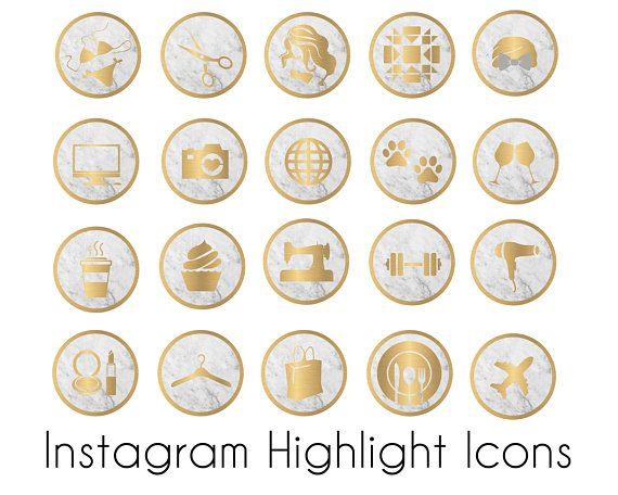 Instagram Highlight Icons Marble Gray