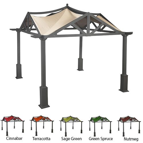 Lowes Garden Treasures 10 X Pergola Replacement Canopy 69396 Winds