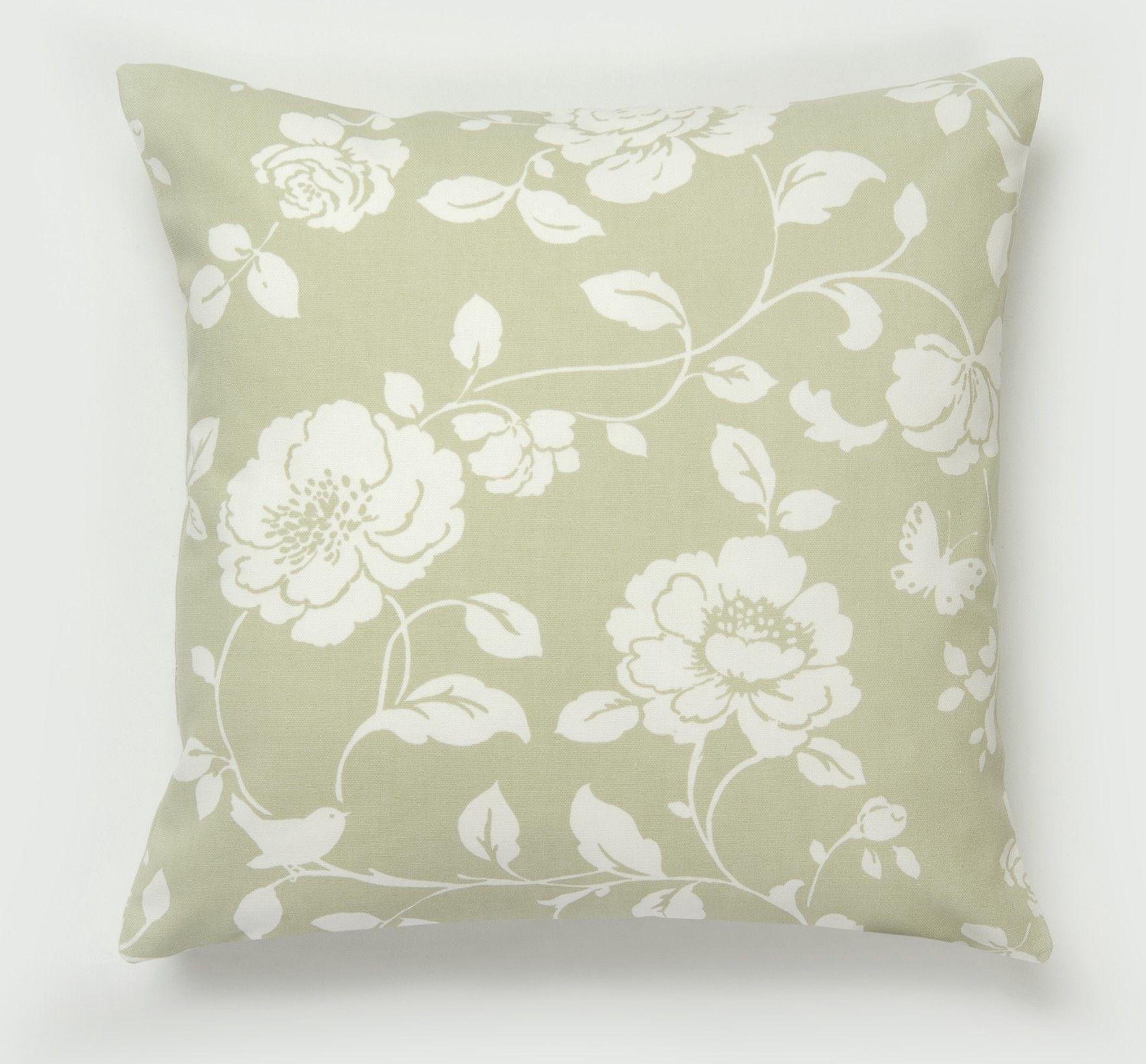 Dotty Brown Meadow Sage Cushion Sagegreen Cushionslounge