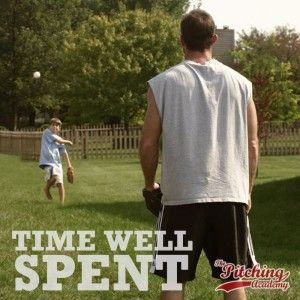 """Baseball Quotes: A Catch with Dad - """"Time Well Spent"""".   Most players don't take this simple skill drill as seriously as they should nor do they play catch as often as they should.  Baseball Motivation, Sport Quote"""
