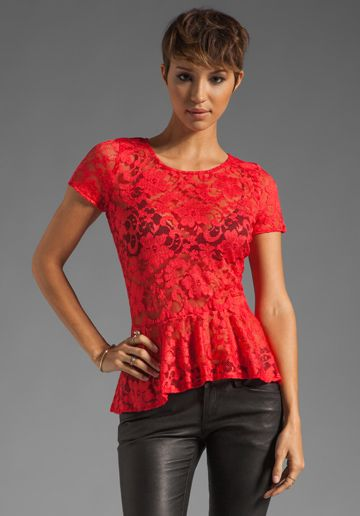 Backstage Monica Top in Tangerine