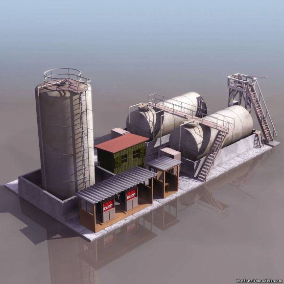Petroleum/oil rafinery (factory) 3d model free | Things to