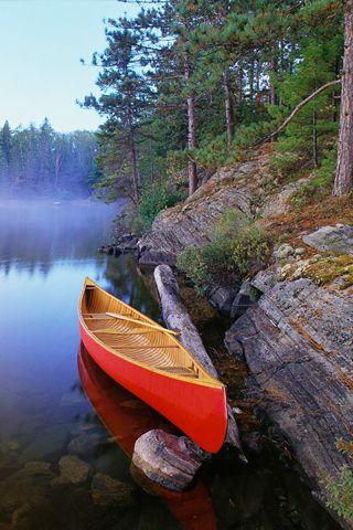 Red Canoe Iphone Wallpaper Mariusz Dabrowski Blog Canadian Adventure Kayaking Canoe