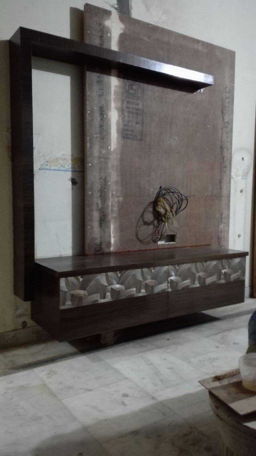 Modern Living Room Lcd Tv Stand Wooden Design Fa18b: Wall Tv Unit Design, Lcd Panel Design