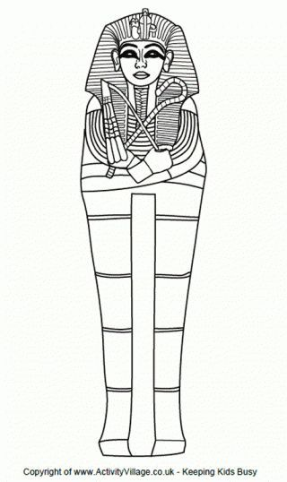 Sarcophagus Colouring Page- various other coloring pages | Egipto 3 ...