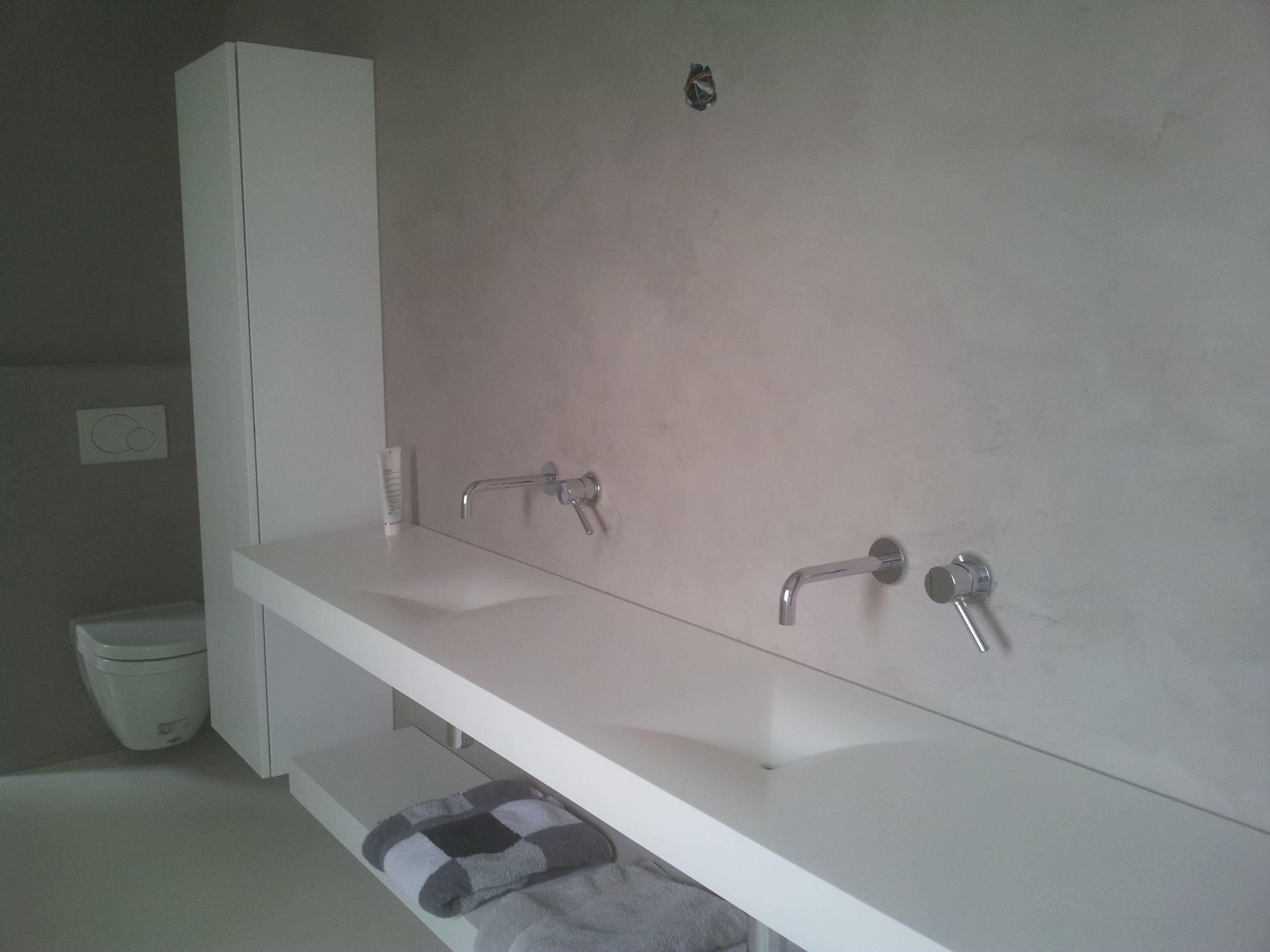 badkamer in microbeton afwerking. | designbeton | pinterest, Badkamer