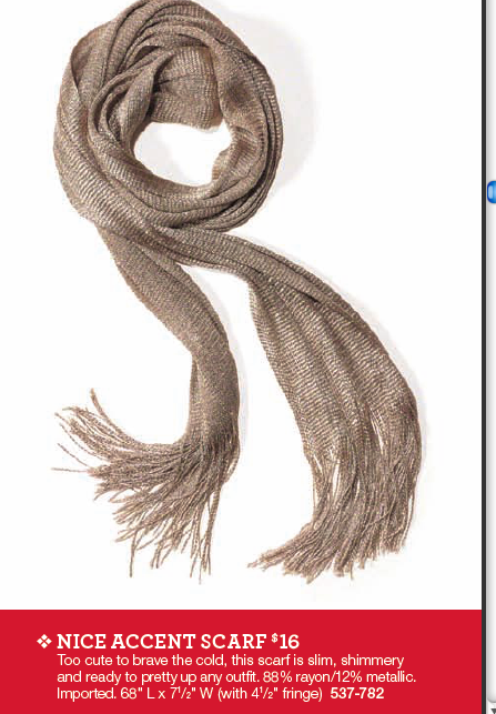 nice accent scarf - bring shimmer to all your gift lists! I have and love this scarf!  Check out my eboutique to order one: http://amandabass.mymarkstore.com