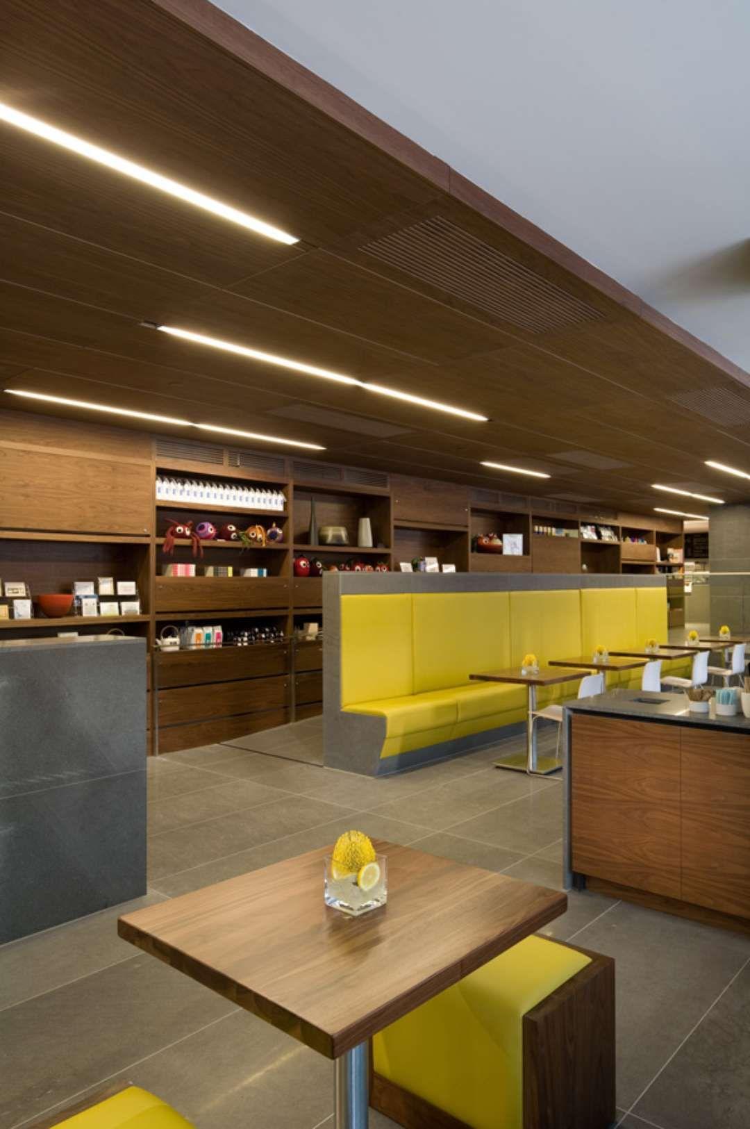 Designed as a splitlevel café, deli and bakery, the name
