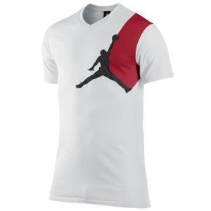 0bc54b2089fc Jordan Graphic Jumpy V-Neck T-Shirt - Men s - Basketball - Clothing -  White Black