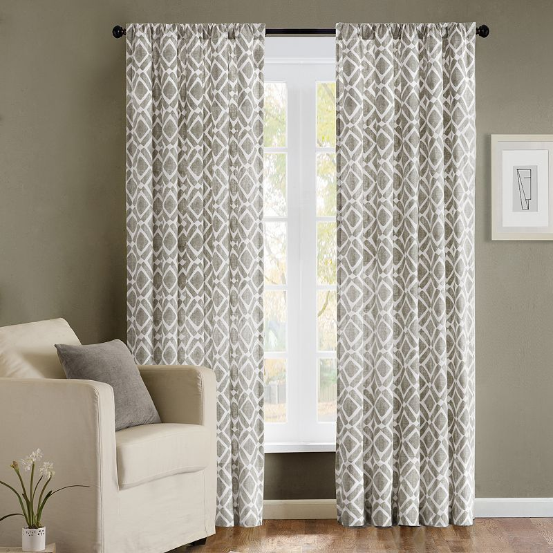 Kohl S Mobile Panel Curtains Bedroom Pattern Grey Window Panels