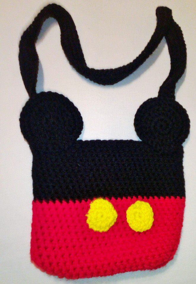 Crocheted Mickey Mouse purse $25   미키마우스   Pinterest   Disney ...