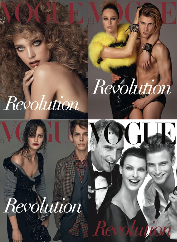 Vogue Italia July 2013 by Steven Meisel in 25 Years of Fashion