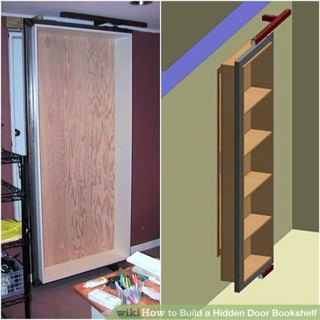 Build A Hidden Door Bookshelf Hidden Doors In Walls Hidden Door