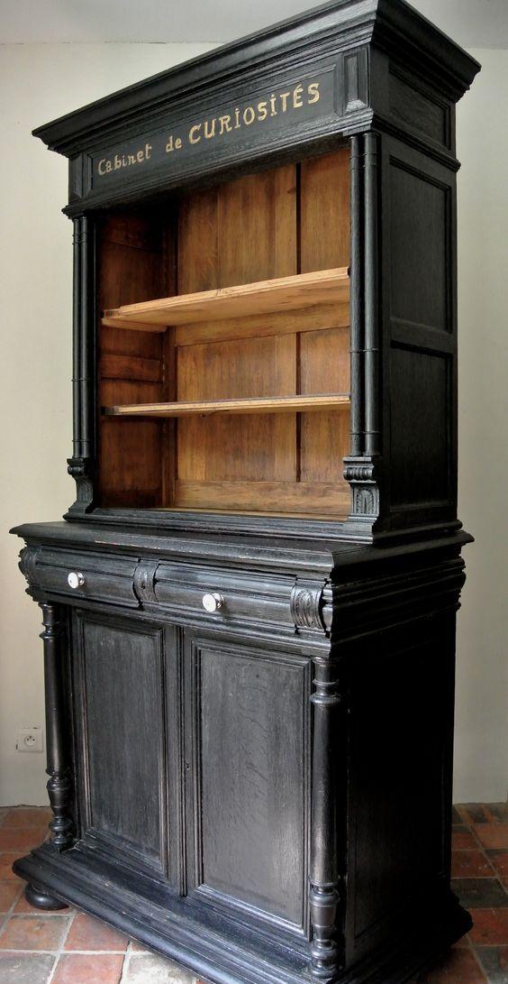 Cabinet de curiosités Création par Le Meuble du Photographe - peindre une armoire en bois
