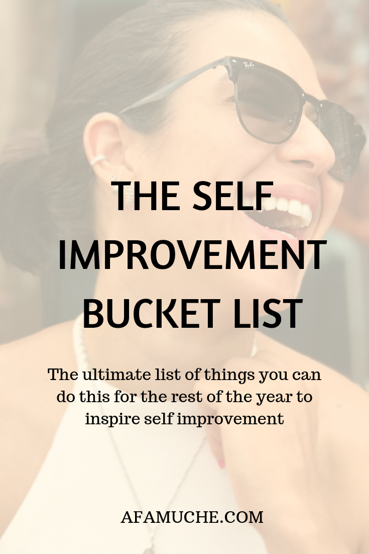 The self-improvement bucket list