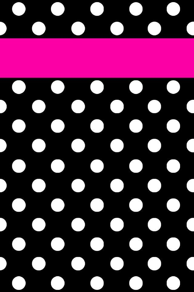Black White Polka Dots Iphone Wallpaper Pinterest Dots Polka Polka Dots Wallpaper Pink Polka Dots Wallpaper Dots Wallpaper