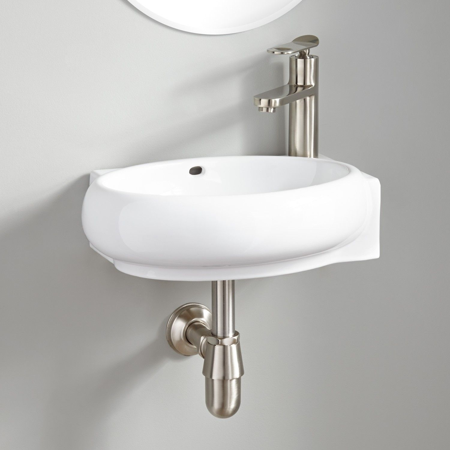 Leanne Mini Porcelain Wall Mount Sink With Images Wall Mounted