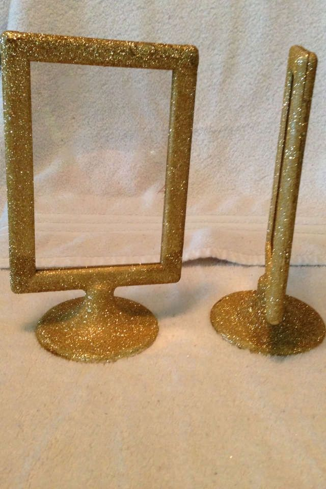 gold 19 ikea tolsby frames with sparkle glitter reception decoration ikea tolsby frame