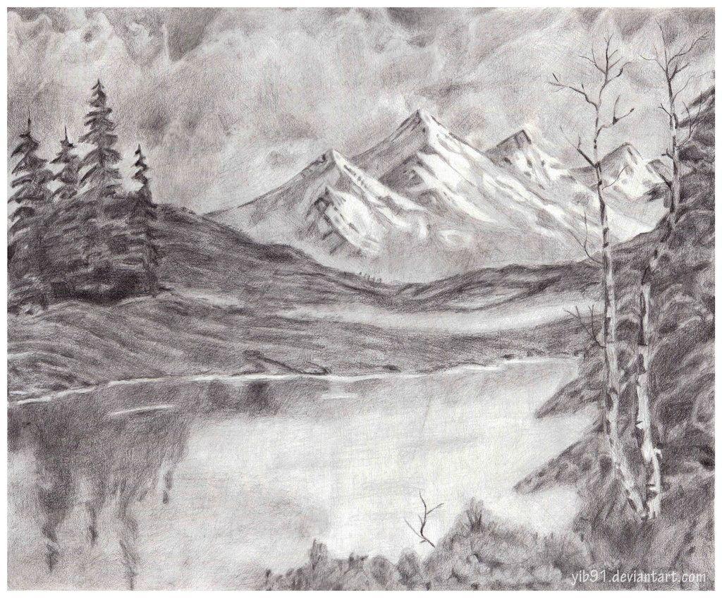 Mountain Landscape Deviantart Drawing Tips Pencil