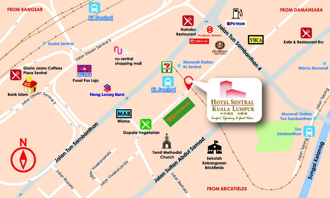 hotel sentral kuala lumpur location map follow us httpswww