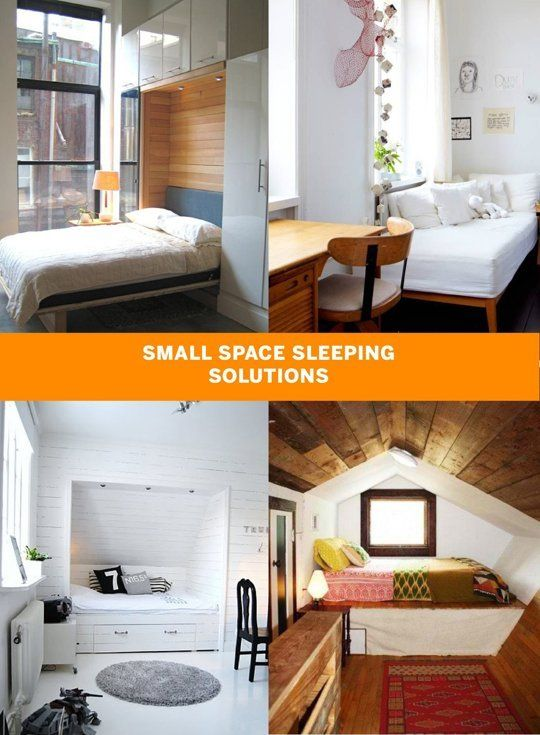 Small Space Sleeping Solutions | Small spaces, Spaces and ...