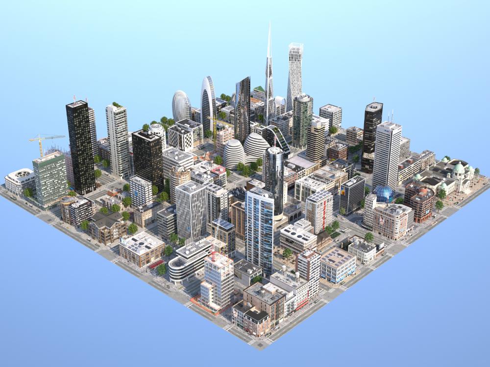 3d Model Kc Metropolis Turbosquid 1338278 Minecraft City City Layout City Model