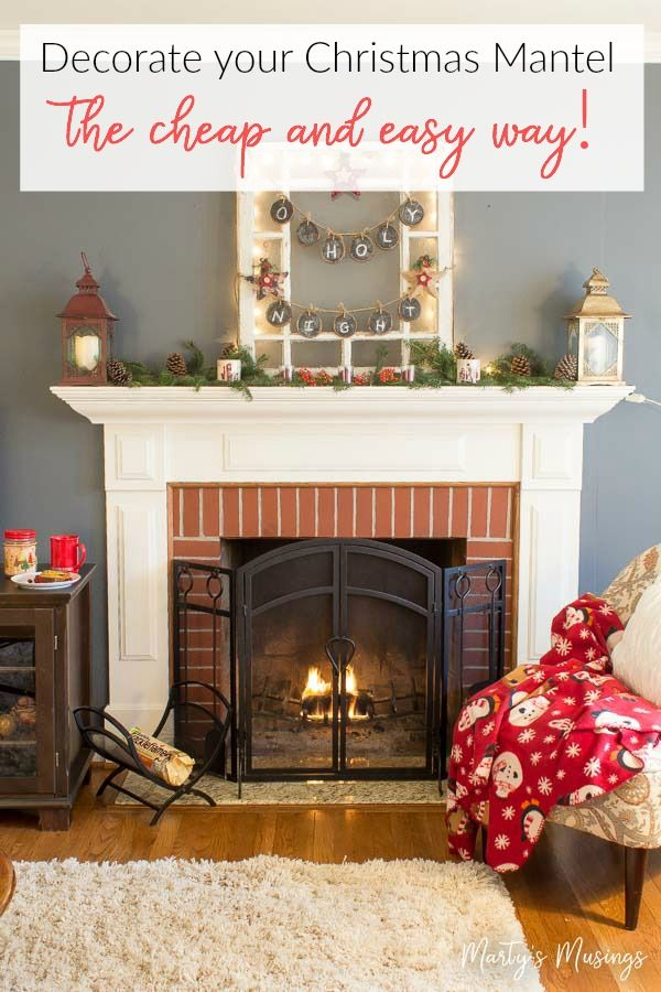 Anyone can decorate a Christmas mantel the