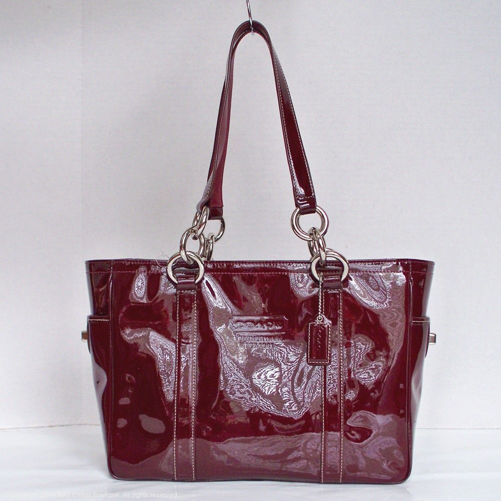 Coach Patent Leather Gallery Tote I Have This And Love It