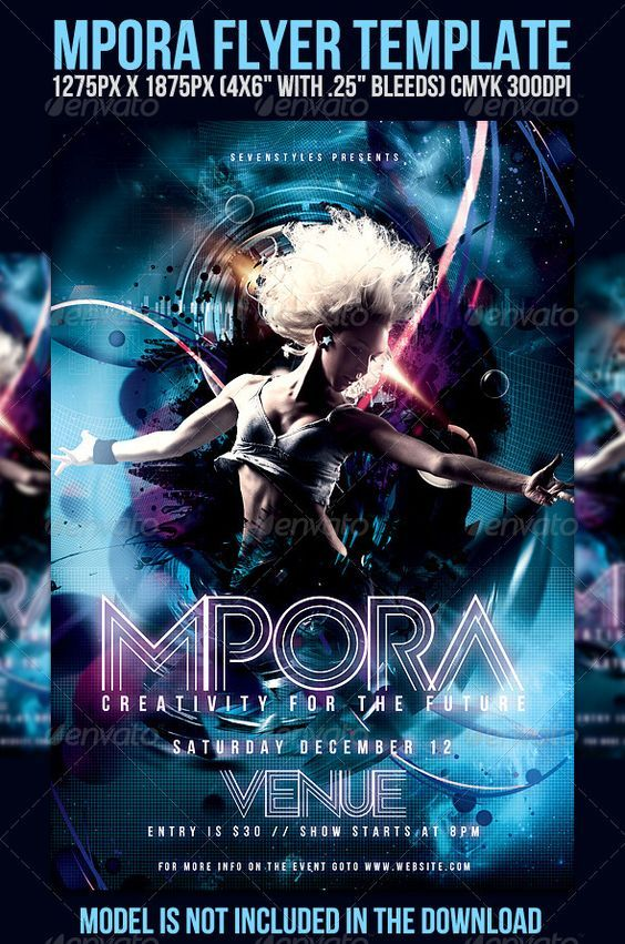 Mpora Flyer Template  Clubs  Parties Events   Disco Party