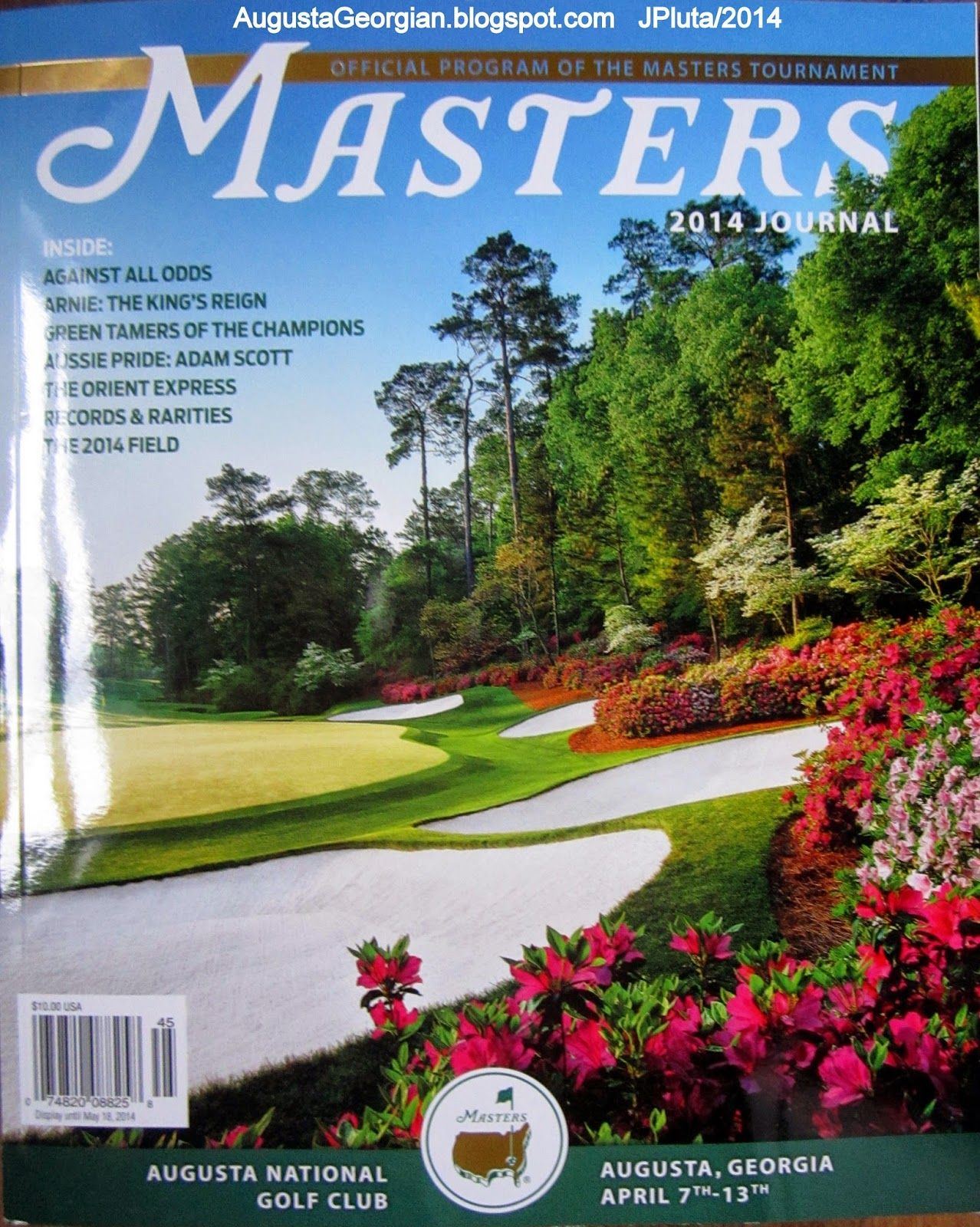 MASTERS GOLF TOURNAMENT AUGUSTA 2014 Official