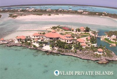 The private island in the Bahama's.