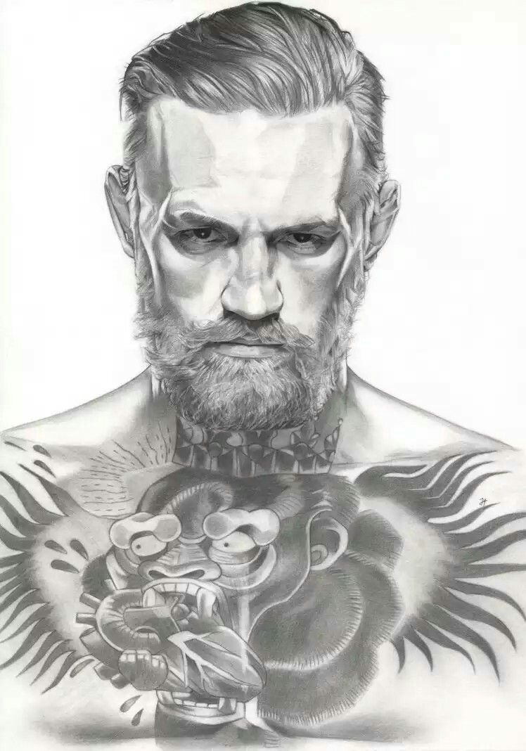 Pin By Tsarakhov Yan On Risunki Connor Mcgregor Character Sketches Sketches