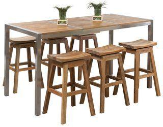 Outdoor Bar Sets Teak Bar Set Patio Furniture For Sale Bar Height Patio Furniture Patio Furniture Conversation Sets