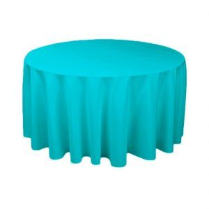 Great Buy 120 Inch Round Turquoise Tablecloth For Weddings At LinenTablecloth!  Seamless And Machine Washable Table Linens, These Wedding Tablecloths Are  Perfect ...