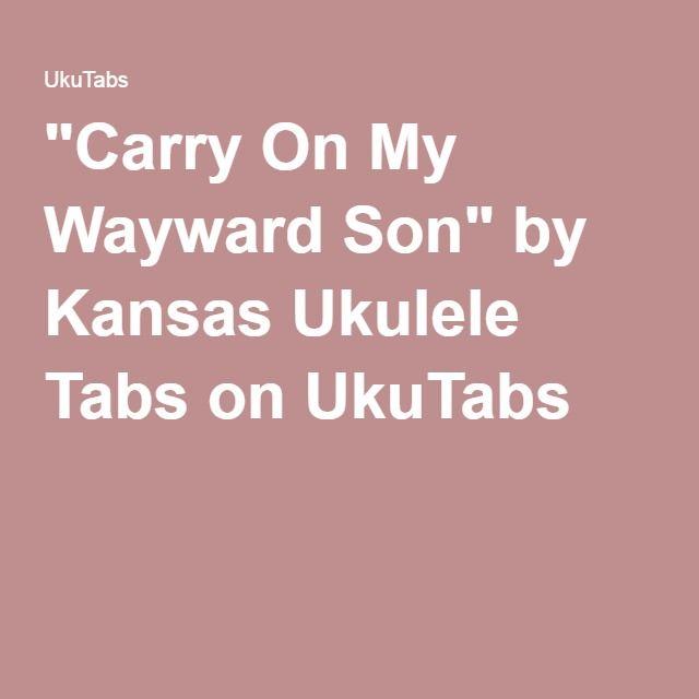 Carry On My Wayward Son\