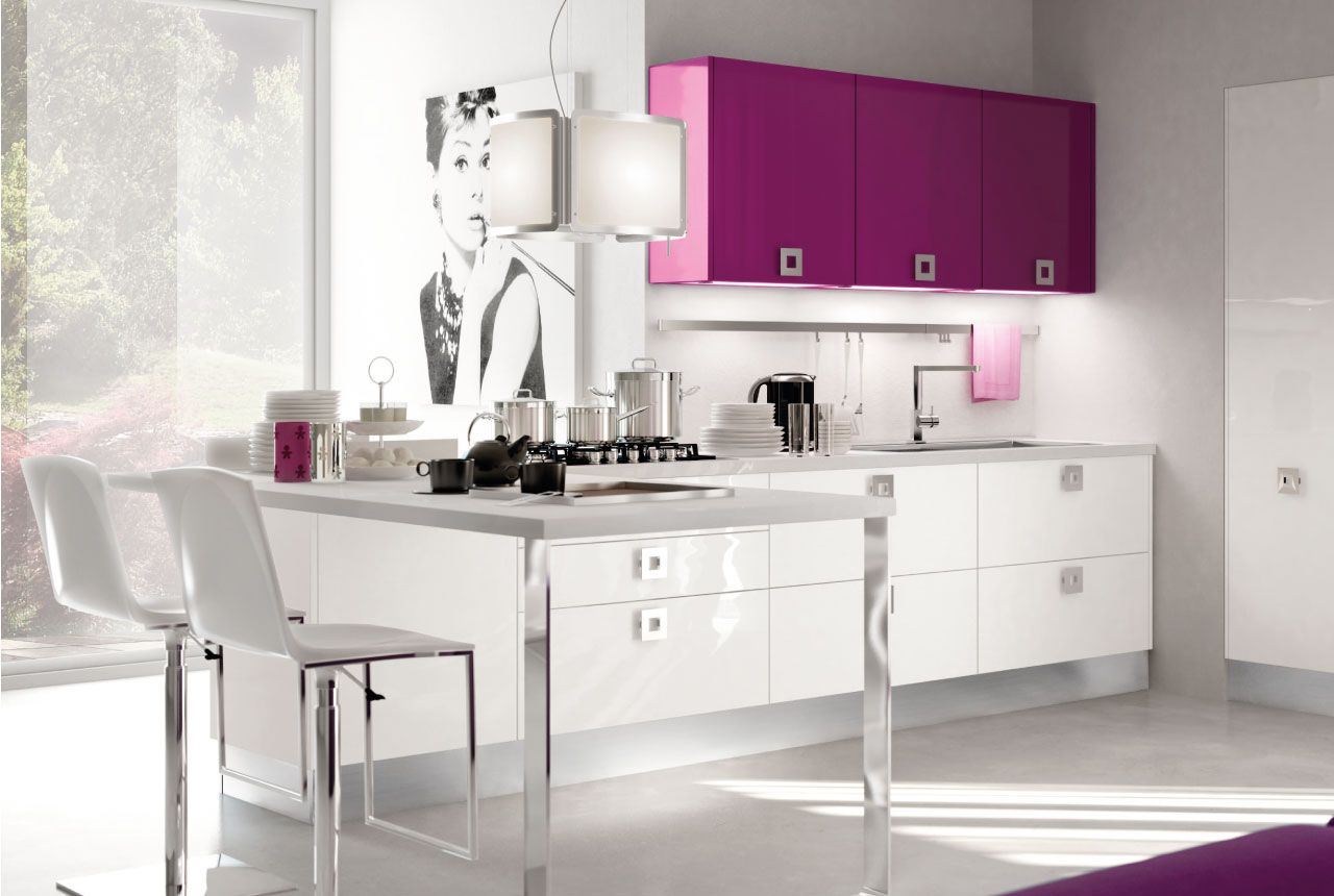 rosa kche von cucine lube pink kitchen he would never let me