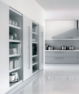 Kitchen Wall Cabinets With Sliding Doors