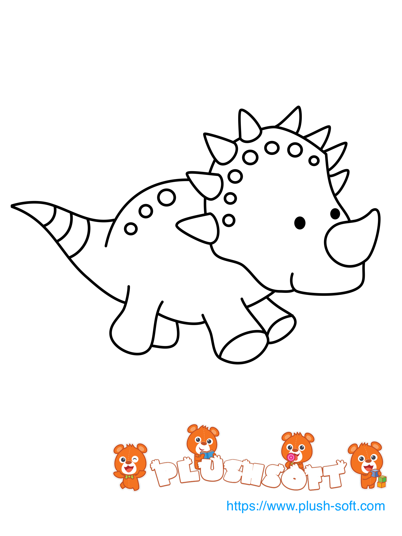 Pin By Plush Soft Ood On Printable Coloring Pages For Toddlers Dinosaur Coloring Pages