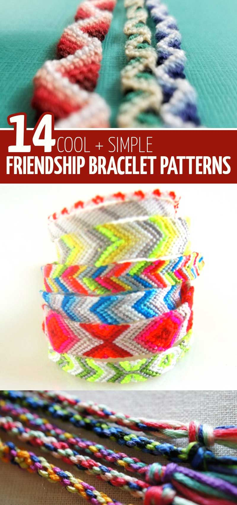 DIY Friendship Bracelet Tutorials and Patterns * Moms and Crafters