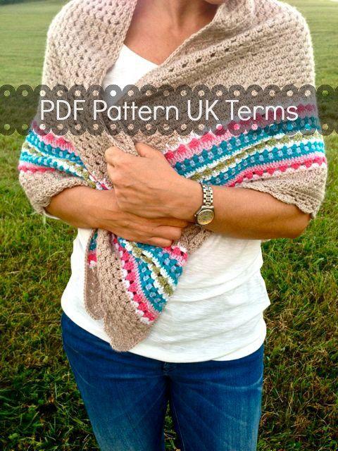 Crochet Shawl Pattern - Nordic Shawl - Crochet Shawl UK, US ...