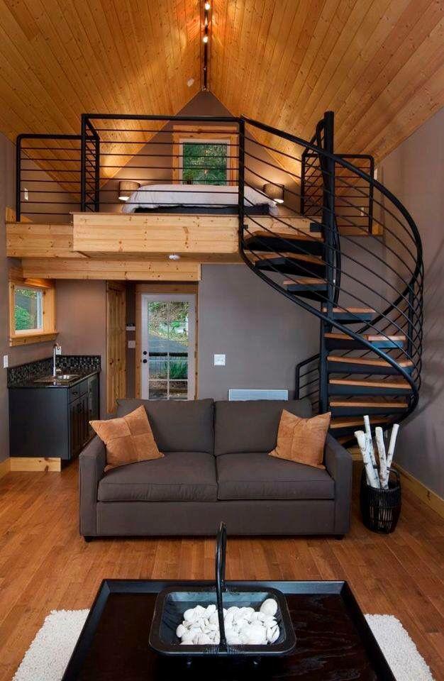 Tapanco desván madera cabaña diseño de interiores Paul casas - interiores de casas