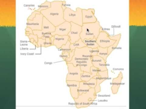 ▷ Map of Africa Mnemonic Device Project   YouTube | geography