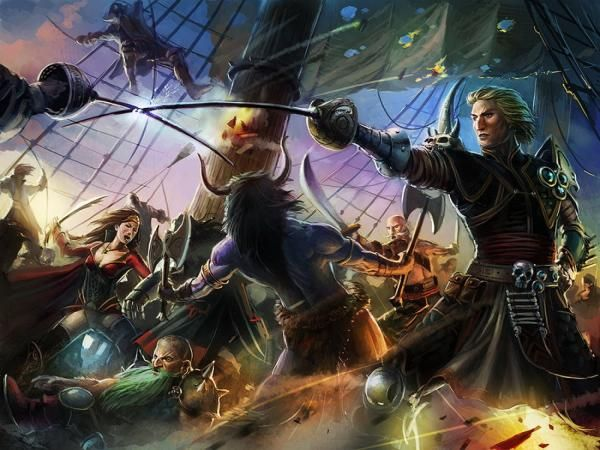 Pirates In Battle | Magical pictures, Fantasy art, Art