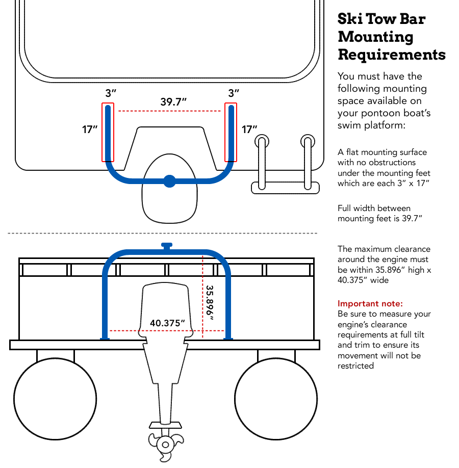 Universal Ski Tow Bar For Pontoon Boats Pontoon Boat Pontoon Boat